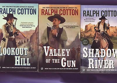 Three---Ralph Cotton --Westerns   Paperback
