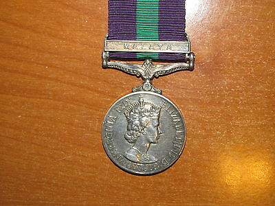 British General Service Medal Bar Malaya nice South Wales Borderers