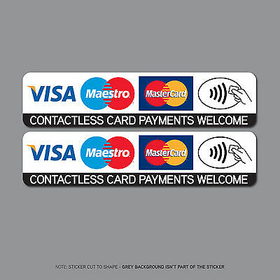REF2511 Contactless Credit Card Payments Stickers Taxi Shop VISA Mastercard