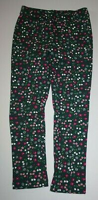 New Gymboree Hunter Green Floral Best Friend Ponte Pants 8 Year NWT Plum Pony