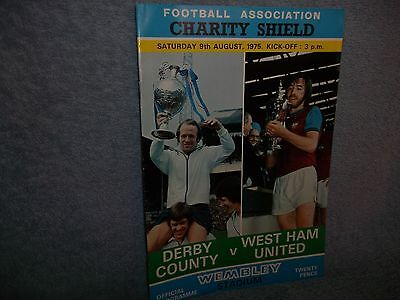 Derby V West Ham 1975 Charity Shield Programme