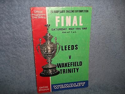 Leeds V Wakefield Trinity 1968 Rugby League Cup Final Programme