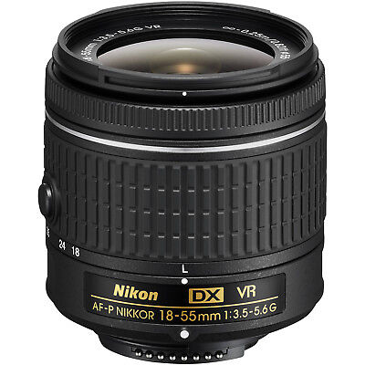 Nikon 18-55mm f/3.5-5.6G VR AF-P DX Zoom-Nikkor Lens for DSLR Cameras