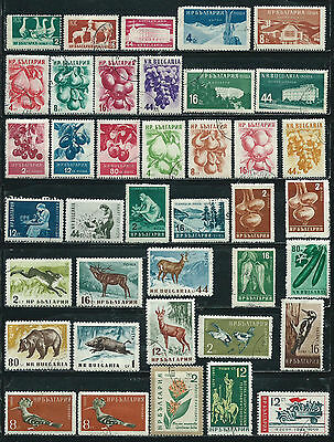 Bulgaria - 77 old stamps mixed - Years 1955 to 1961