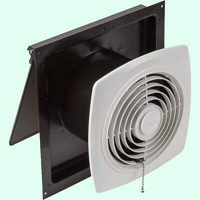 "Kitchen Exhaust Fan 8"" Pull Chain White Wall Ventilation Laundry"
