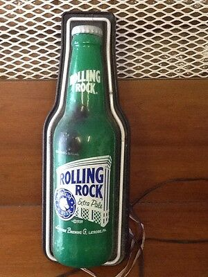 "Vintage Rolling Rock Neon Bar Sign Approx. 29"" tall, 12"" wide (Needs Lightbulb)"