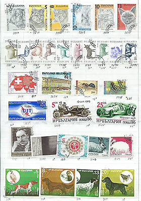 Bulgaria - 87 stamps mixed - Years 1977 to 1992