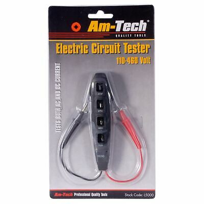 Am-Tech Electric Electrical Circuit Tester 110-460 Volt
