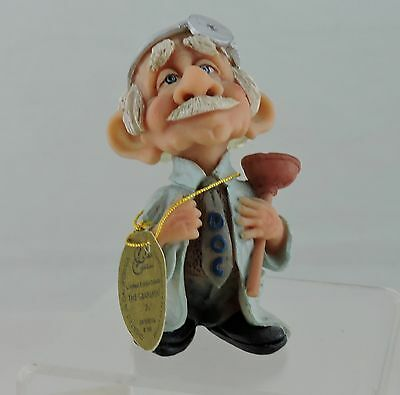 Medical Old Doctor Figurine Pete Arsit Signed Novelty Humorous Gift