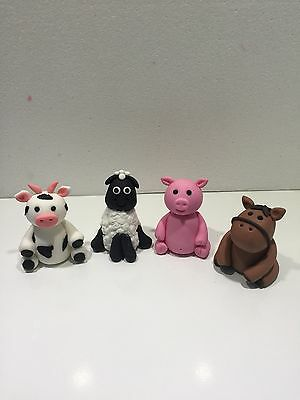 Fondant 3D Cake Topper Any 1 Farm Animal Pig / Sheep / Horse / Cow.