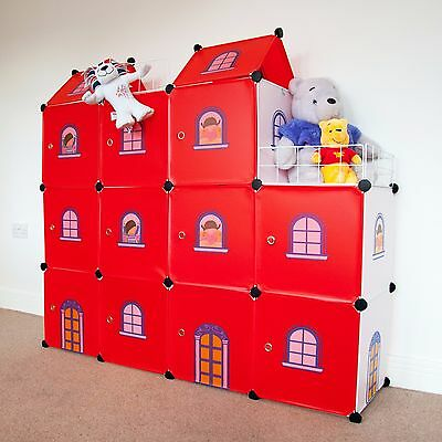 Castle Cubes Kids Wardrobe Toy Boxes Storage Units Organizer Bookcase Toy Chest