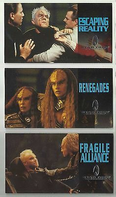 "1994 Star Trek Generations ""Complete Set"" of 3 FOIL Chase Cards (F1-F3)"