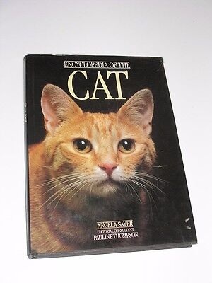 1979 Encyclopedia Of The Cat Coffee Table Hard Cover Book By Angela Sayer