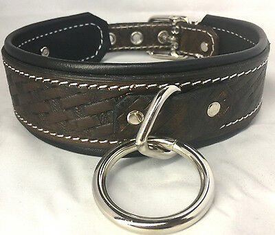 Hand made stamped leather Collar choker, bondage choose color & customize it!