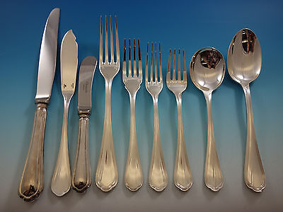 Spatours by Christofle France Silverplate Flatware Set Service 55 Pieces Dinner