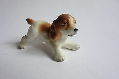 Vintage Miniature Beagle Puppy Dog Figurine Bone China