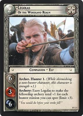 LOTR TCG Legolas Of the Grey Company 13RF3 Bloodlines Lord of the Rings MIN FOIL