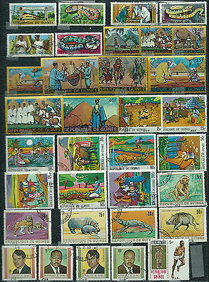 Guinea - 34 stamps - Years 1967  to 1969....included  Airpost