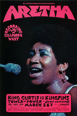 BG # 272-1 Aretha Franklin Tower of Power Fillmore West 1971 Poster BG272 Singer