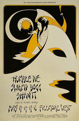 BG # 280-1 Humble Pie Swamp Dogg Shanti Fillmore 1971 Poster BG280 David Singer