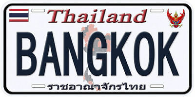 Thailand Bangkok Any Name Number Text Auto Car Novelty License Plate B01