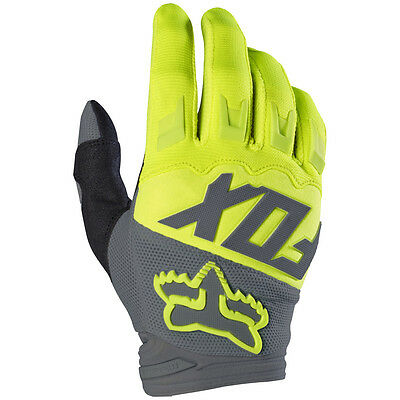 2017 Fox MX Youth Dirtpaw Race Gloves - Yellow Motocross Offroad Trail Enduro