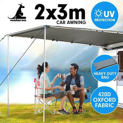 2m x 3m Awning Roof Top Tent Camper Trailer 4WD 4X4 Camping Car Rack Pull Out