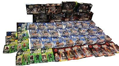 Star Wars Massive lot of figures in packages as well as sets