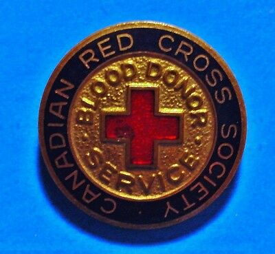 Canadian Red Cross Society - Blood Donor Service #54617 - Vintage Lapel Pin