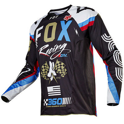 2017 Fox MX Mens 360 Jersey - Rohr Black Motocross Offroad Trail Enduro