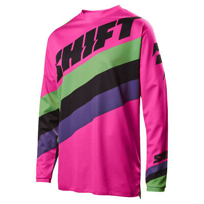 2017 Shift MX Mens WHIT3 Tarmac Jersey - Black/Pink Motocross Offroad Trail Endu