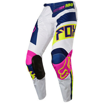 2017 Fox MX Youth 180 Pants - Falcon Navy Blue/White Kids Motocross Offroad Peew