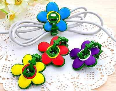 2Pcs Flower Earphone Headphones Wire Organizer Cable Cord Wrap Winder Holder