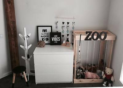 Toy box, Storage unit, Soft teddy zoo, Kids decor