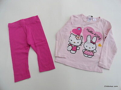 58b31a27426f4 Pyjamas 2 pièces H M long jersey HELLO KITTY   Fille taille 3 4 ans 94