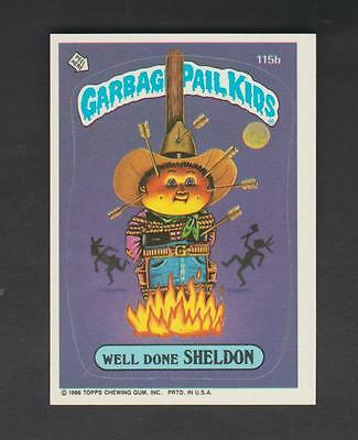 1986,TOPPS CHEWING GUM,GARBAGE PAIL KIDS,*WELL DONE SHELDON*-*115b*