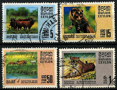 Ceylon 1970 SG#561-4 Wildlife Conservation Used Set #D42045