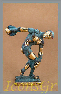 Ancient Greek Bronze Museum Statue Replica of Discus Thrower of Myron Olympics