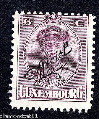 1922 Luxembourg 6c Purple OPTD OFFICIEL SG O253 MOUNTED MINT R24619