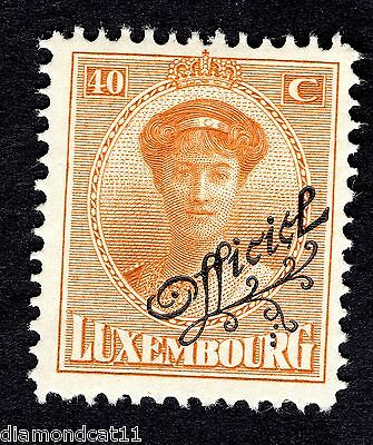 1922 Luxembourg 40c Orange OPTD OFFICIEL SG O259 MOUNTED MINT R24615