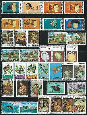Grenada - 36 stamps mixed - Years 1975 to 1976
