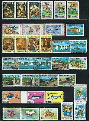 Grenada - 34 stamps mixed - Years 1973 to 1975