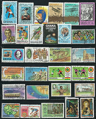 Ghana - 49  stamps used - Years 1959  to 1991 including Air Post