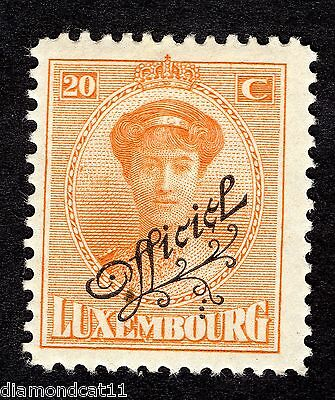 1922 Luxembourg 20c Orange OPTD OFFICIEL SG O256 MOUNTED MINT R24627