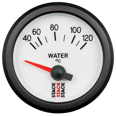 Stack 40-120°C Water Temperature Gauge 52mm Electrical White Face Illuminated