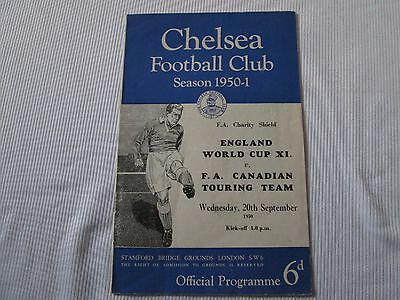 1950 FA CHARITY SHIELD ENGLAND WORLD CUP X1 v FA CANADIAN TOURING TEAM @CHELSEA