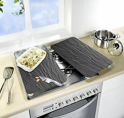 Wenko 2521480100Universal Hob Cover Plate Tempered Glass Slate/Grey