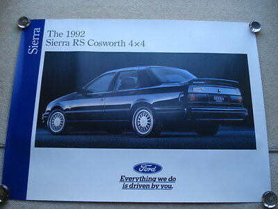 Orig'nl Vintage The 1992 Sierra Rs Cosworth 4X4 Ford Promotional Showroom Poster