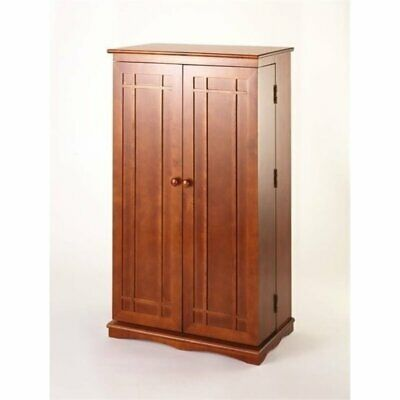 "Bowery Hill 40"" CD DVD Wall Media Storage Cabinet in Walnut"