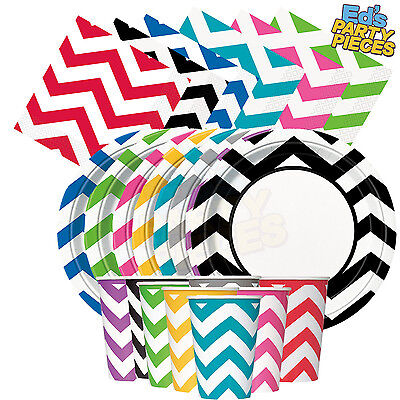 CHEVRON Colours PARTY TABLEWARE  Birthday/Events/Catering/Wedding/Occasion